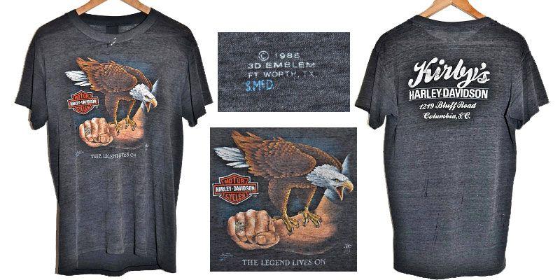 เสื้อฮาเลย์ อินทรีย์เกาะแขน 1986 3D EMBLEM HARLEY DAVIDSON T shirt