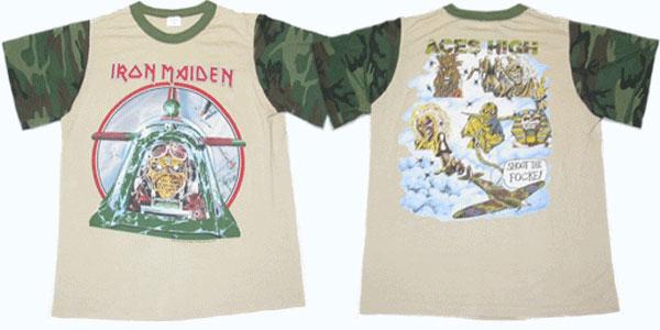 เสื้อ ไอรอน เมเดน Iron Maiden Aces High Camouflage