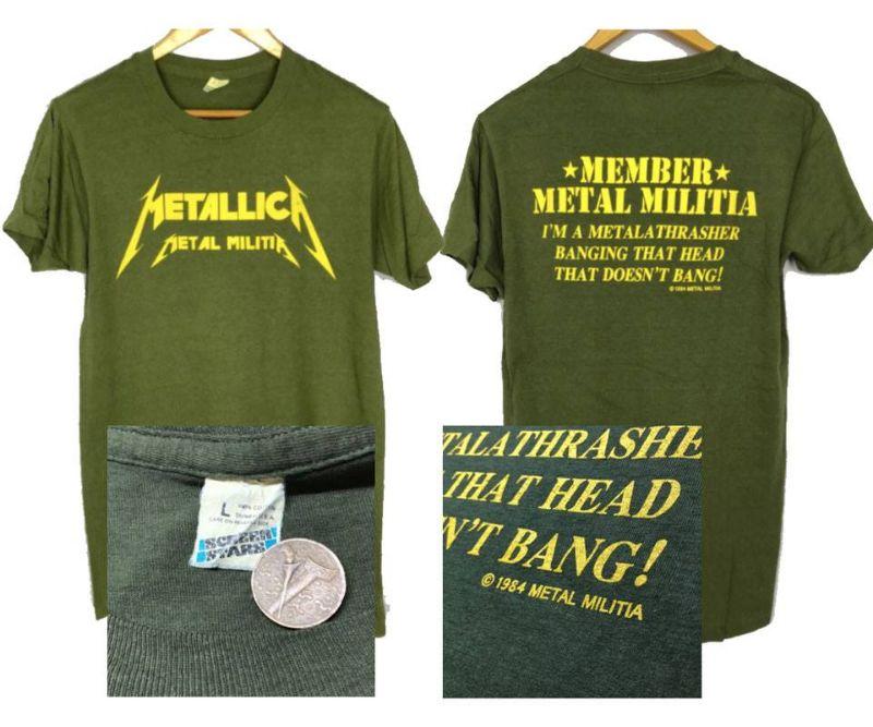 เสื้อ วง metallica มือ สอง 1984 Metal Militia