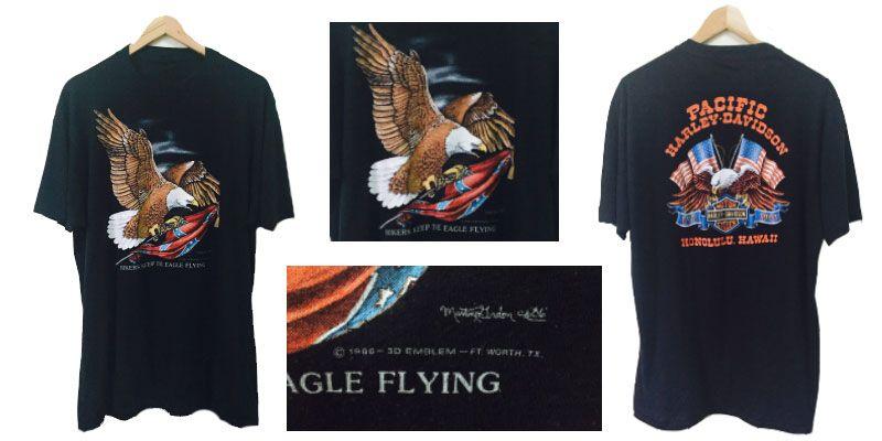 เสื้อฮาเลย์ อินทรีย์บิน harley t shirt honoluu hawaii