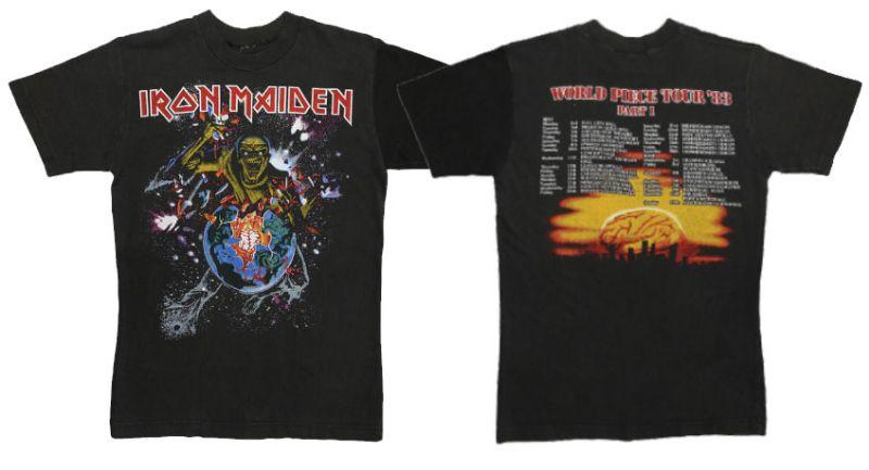 เสื้อ ไอรอน เมเดน Iron Maiden 1983 World Piece Tour