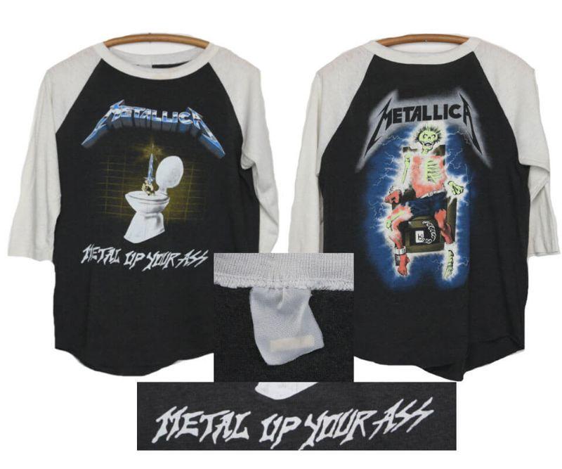 เสื้อวง metallica แท้ Metal up your ass