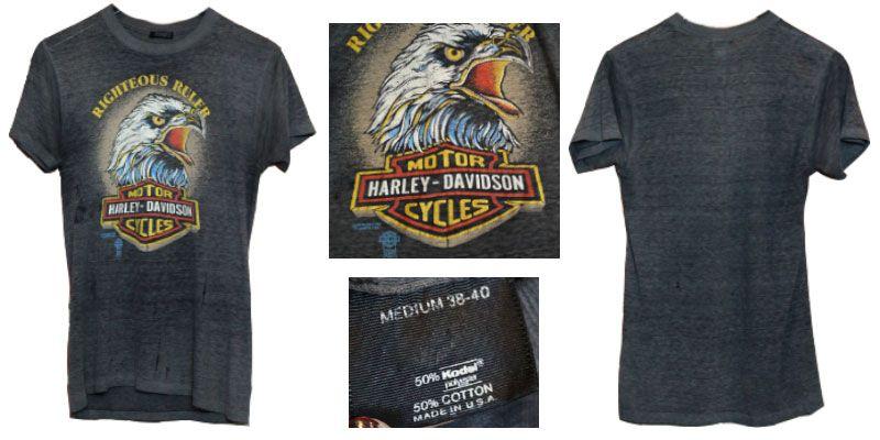 3.เสื้อฮาเลย์ อินทรีย์ผงาด 1980S 3D Emblem