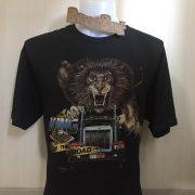 เสื้อ 3d emblem เสื้อวินเทจ มือสอง หัวลากสิงโต KING OF THE ROAD