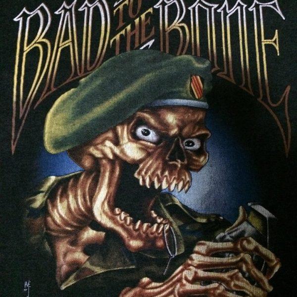 เสื้อ 3d emblem เสื้อ3dมือสอง ผีถือระเบิด BAD TO THE BONE