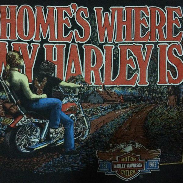เสื้อ3dมือสอง เสื้อฮาเล่ HOME'S WHERE NY HARLEY IS