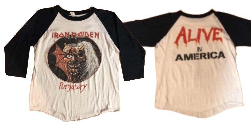 เสื้อ ไอรอน ไมเดน 1981 Vintage Iron Maiden Purgatory Concert Tour Shirt