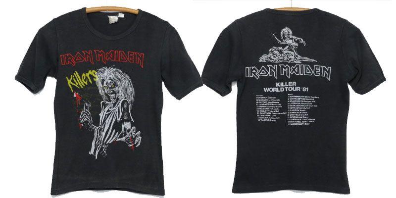 เสื้อ iron maiden 1981 Killers Euro Tour Steve Harris Heavy Metal