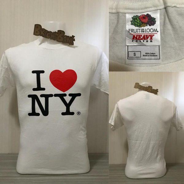 ผ้าบาง ผ้าบางวินเทจ เสื้อยืดมือสอง ลาย I NY